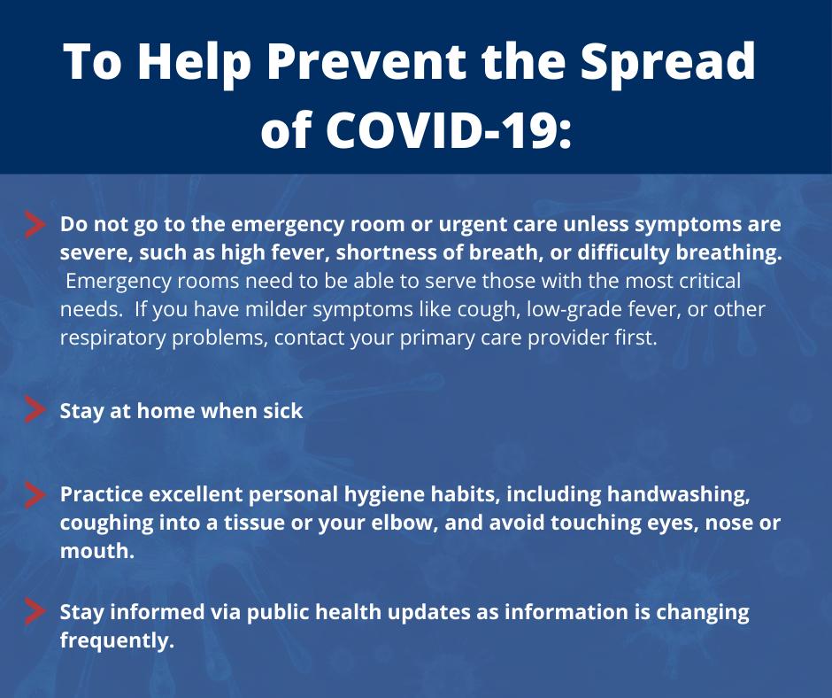 To Prevent the spread of COVID-19_